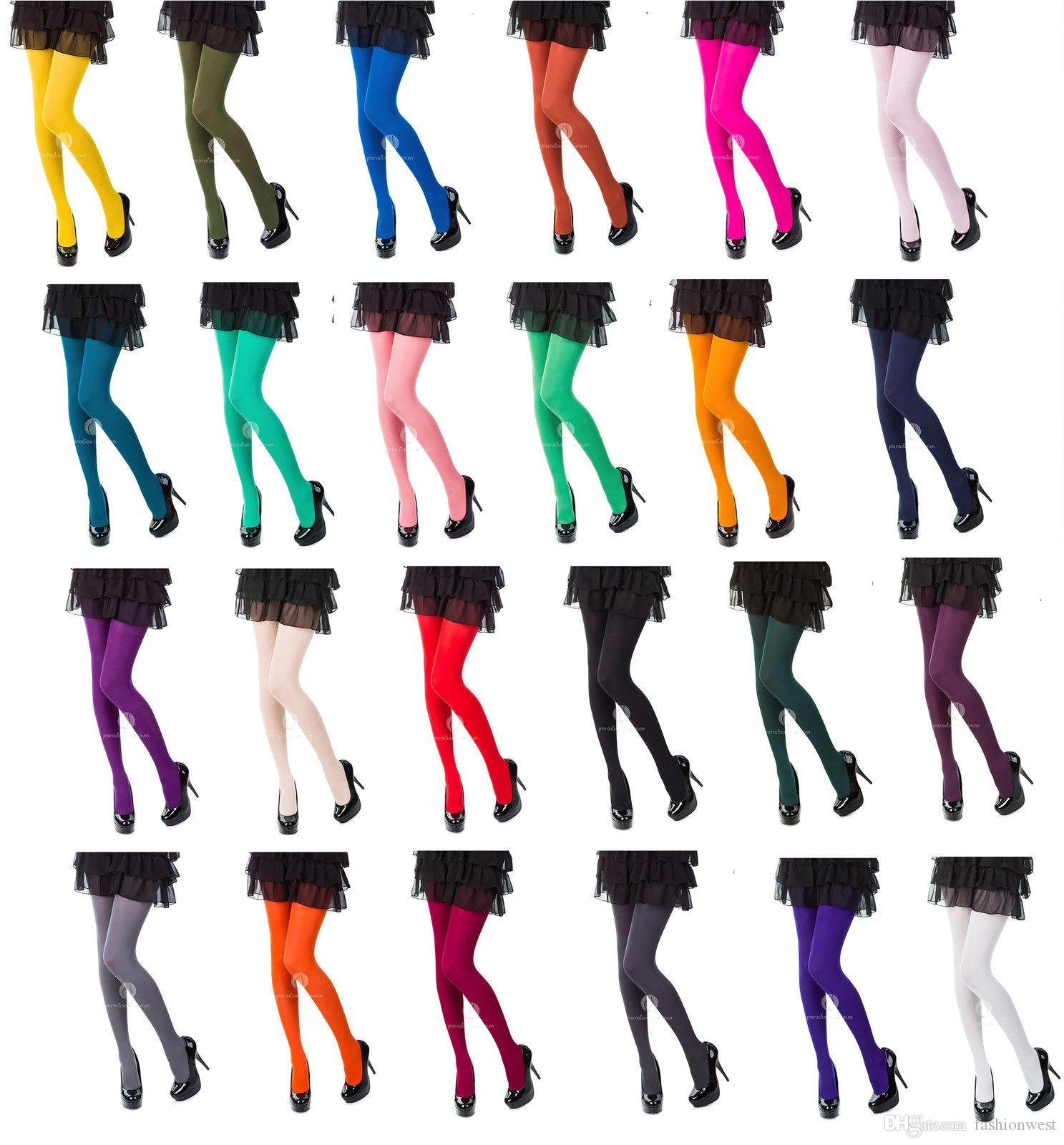 Womens Tights Choose From 25 Fashionable Colours 120 Denier New Warm Women Stockings Pantyhose Socks Tights Thick Opaque Solid Color