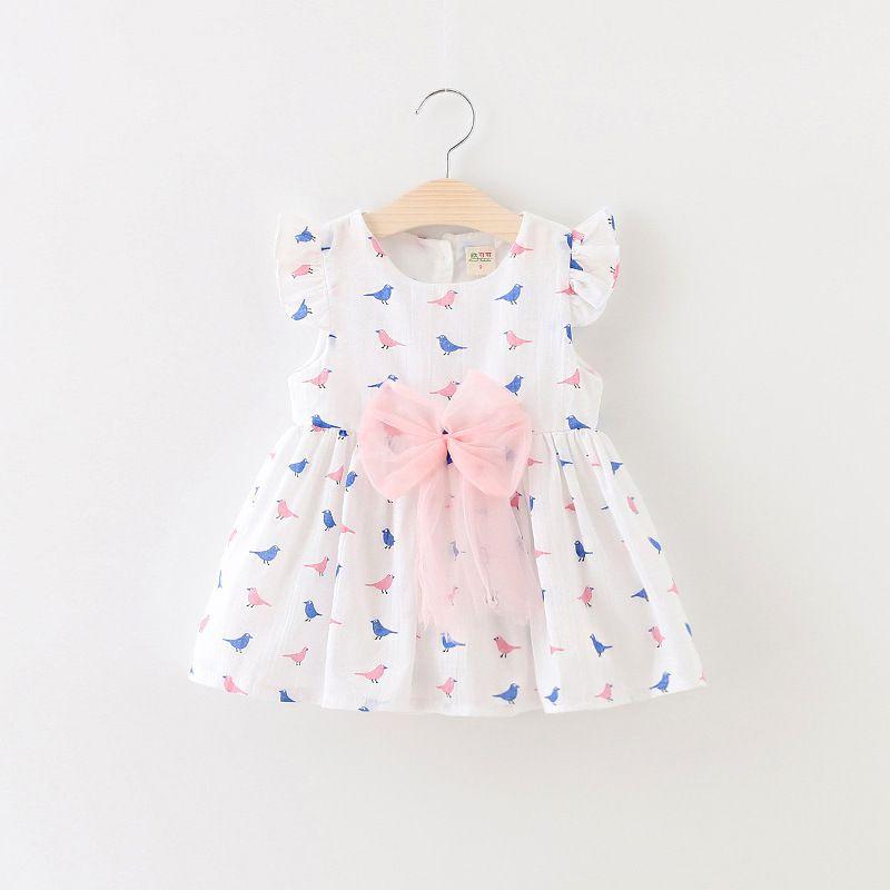 ffedc9da8b1c 2019 New 2016 Summer Baby Bow Dress Cute Infant Sleeveless Dress ...