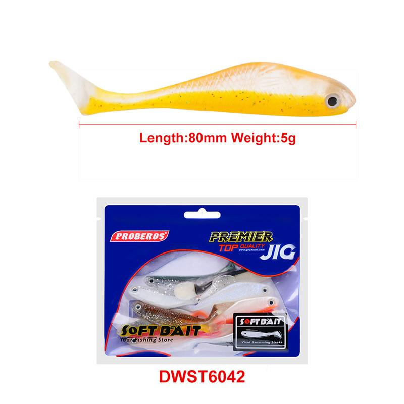 Hot Realistic Artificial Silicon Rubber Fish Stick Baits 8cm 5g Freshwater shad softbait Baby Bass fishing lure