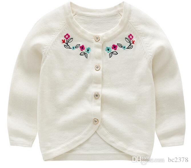 f879ca44f Fasion Baby Cardigan White Floral Sweater Suitable Wear In Air ...