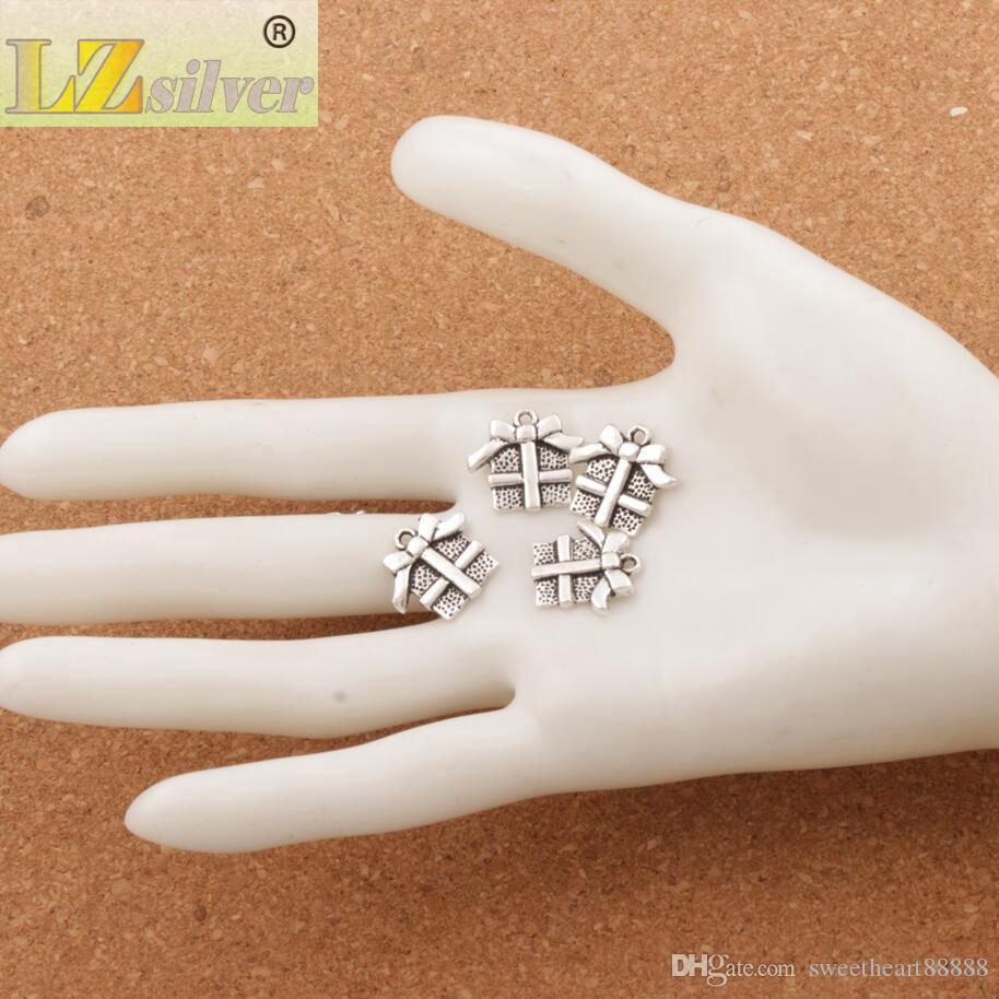 Coffret Cadeau De Noël Avec Ruban Arc Charme Perles / Pendentifs De Mode Bijoux DIY Fit Bracelets Collier Boucles D'oreilles L394