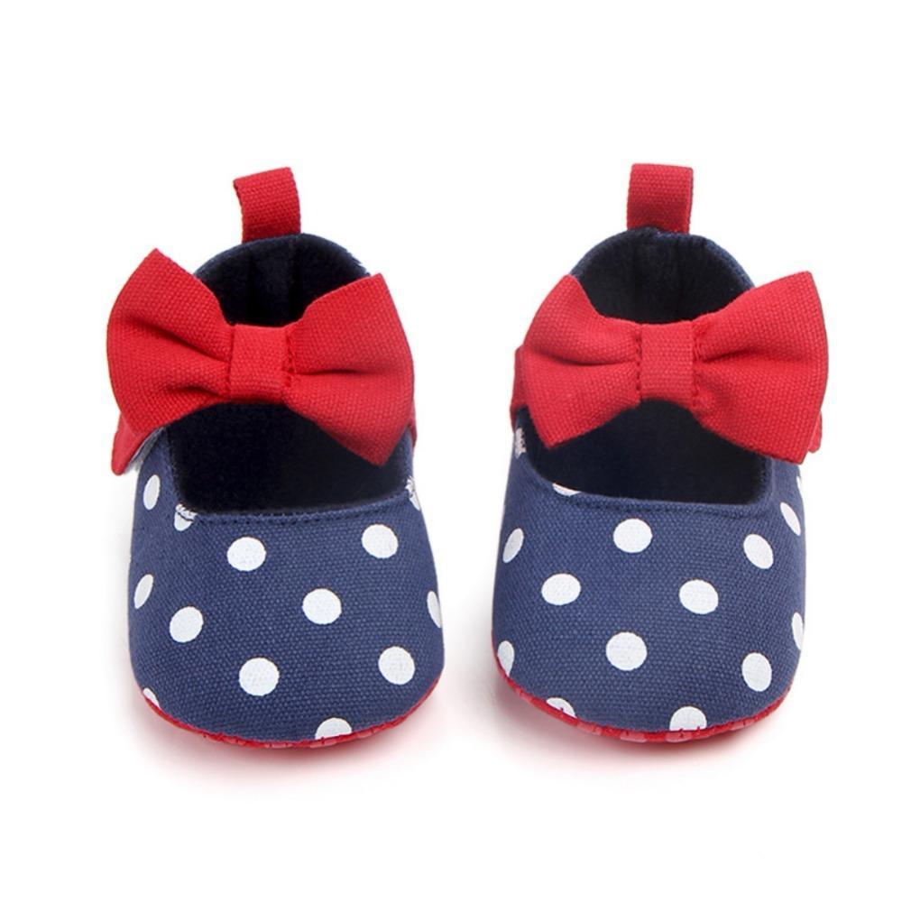 Mother & Kids Baby Shoes Branded Mary Jane Shoes Kids Newborn Baby Girl Bow Shoes Infant Toddler Polka Dot Prewalker Bebe Baby Girl Footwear 100% Original