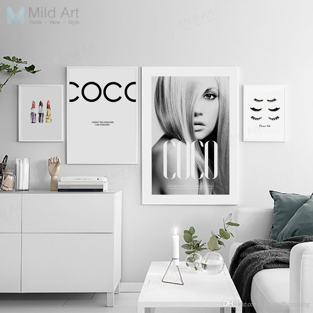 Modern Fashion Quotes Beautiful Sexy Girl Posters Printed Wall Art