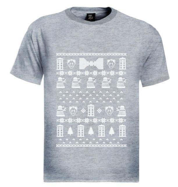 Doctor Ugly Christmas Sweater T Shirt Who Police Box 50th