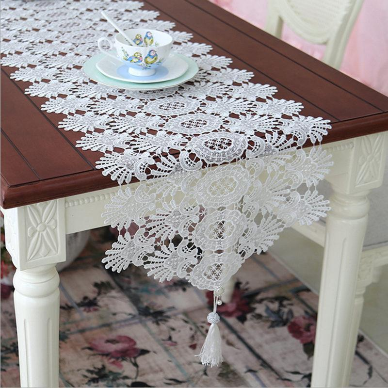 Hot European Table Runner Elegant Lace Table Cloth With Pendant Decorative  Court Luxury Wedding Decoration Piano Cover Gift Easter Table Runners  Elegant ...