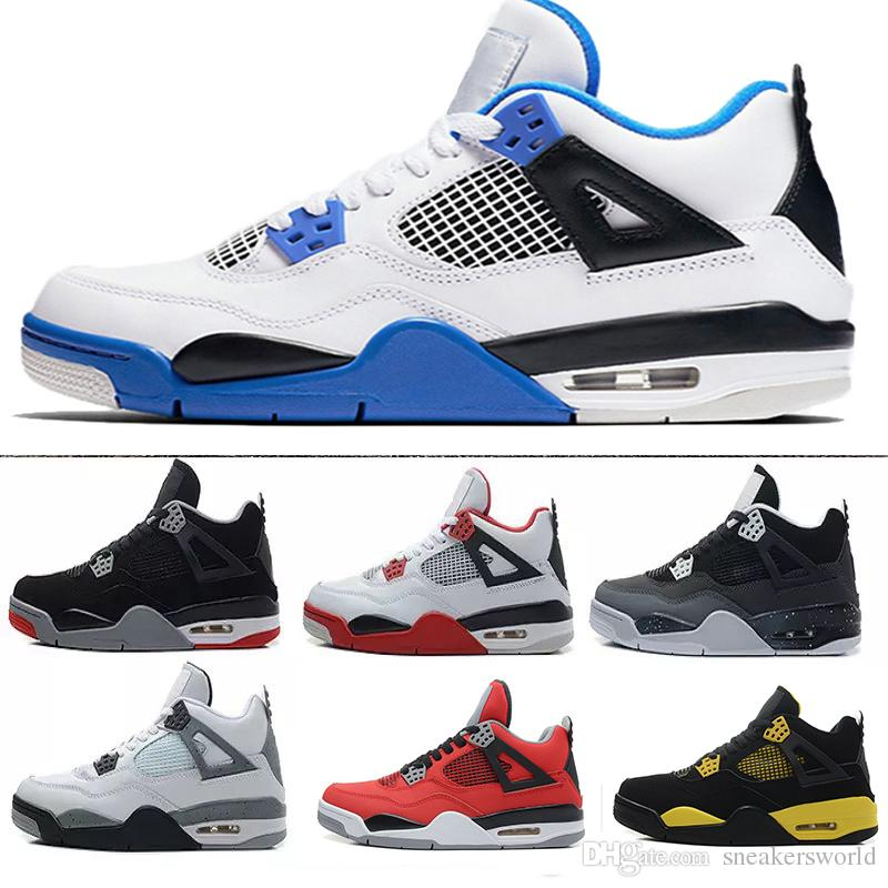 fa792d67fe0de1 4 4s Men Basketball Shoes Pure Money Oreo White Cement Fire Red ...