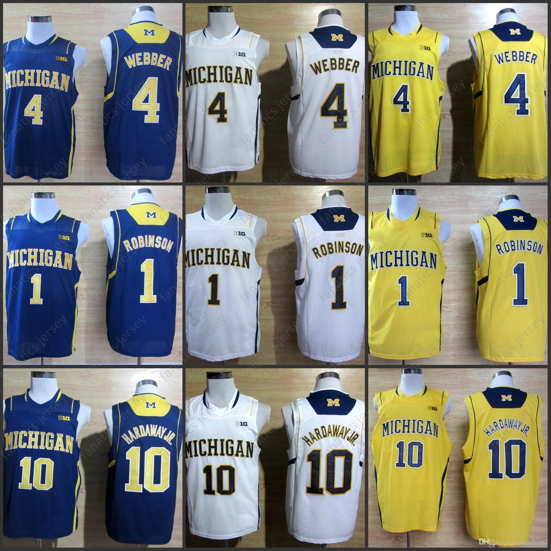 7d63af982 Michigan Wolverines Jerseys NCAA College Basketball 10 Tom Brady 4 Chirs  Webber 1 Glenn Robinson III 3 Trey Burke 2018 Big Discount Jersey Online  with ...