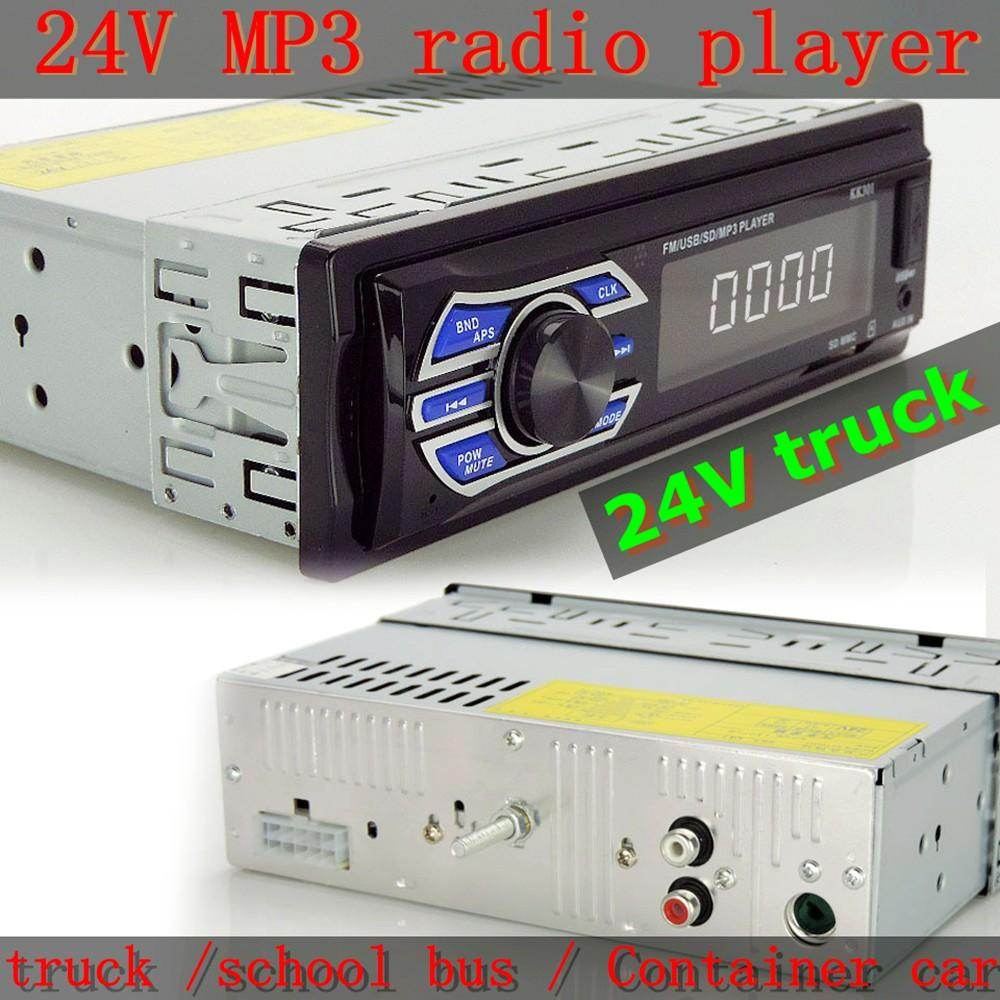auto radio 1 din 24v car radio player usb sd mp3 audio system fmauto radio 1 din 24v car radio player usb sd mp3 audio system fm 1din fm electronic music player truck school bus player aux best prices on car stereos best