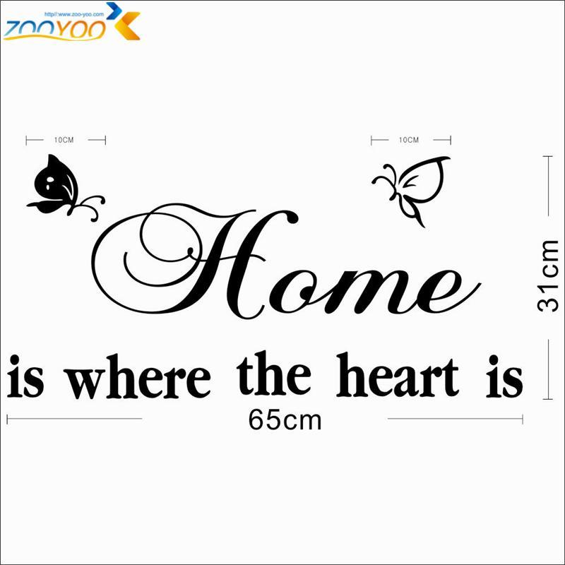 % home es donde el corazón es citar calcomanías de pared diy adesivo de parede vinilos removibles vinilos para la pared decoraciones para el hogar sala de estar