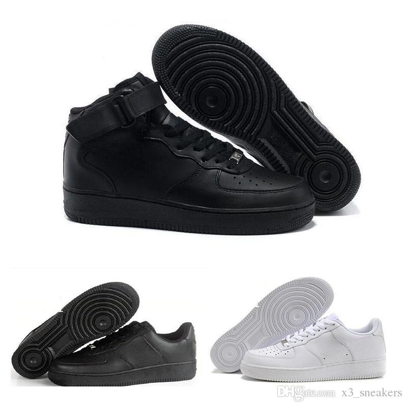 promo code bf339 07bee Compre 2017 Nike Air Force 1 Leather Af1 De Alta Calidad Uno De Los Hombres  De Las Mujeres Zapatillas Unisex Masaje Bajo Alto Plana Zapatos De Ocio  Zapatos ...