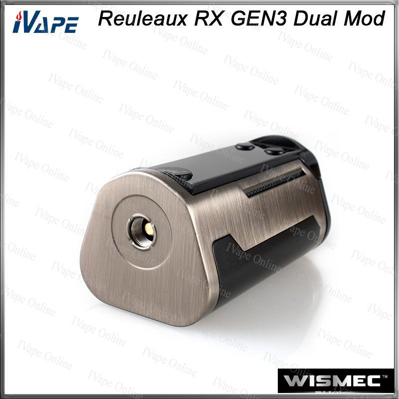 WISMEC Reuleaux RX GEN3 Dupla Caixa TC MOD 230 W com Grande Display de 1.3 polegadas de Proteção de Dois Circuitos Firmware Upradable 100% Original