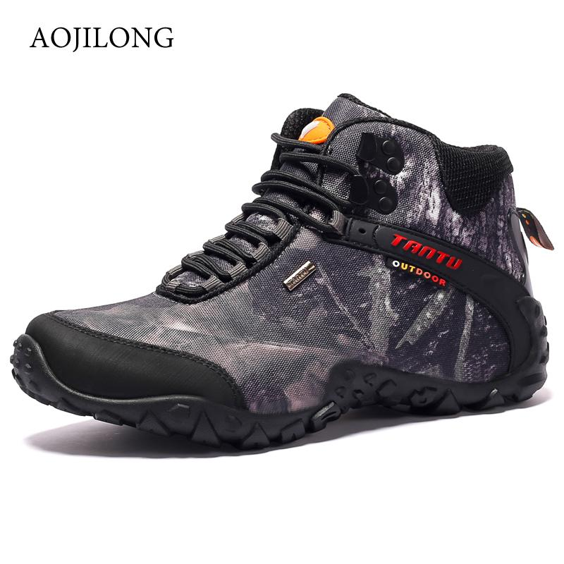 Outdoor Camouflage Tactical Sport Men's Shoes For Camping Climbing Men Hiking Shoes Mountain Non-slip Waterproof Hunting Boots