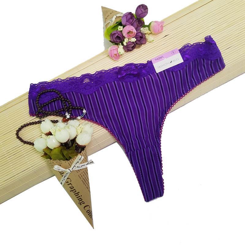 Culottes pour femmes d'été sous-vêtements transparents femmes dentelle culotte douce lingerie sexy taille basse lingerie g- / ah56