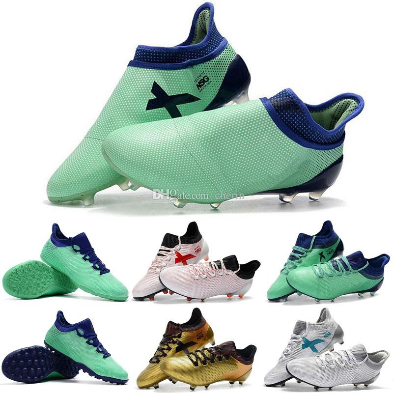 791f4057b4d7 2018 Lace-less ACE 17+ Purechaos FG Football Cleats Laceup Green ...