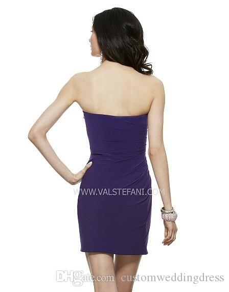 2018 new design special occasion sweetheart beaded crystal elegant purple Short chiffon Cocktail Party Dresses