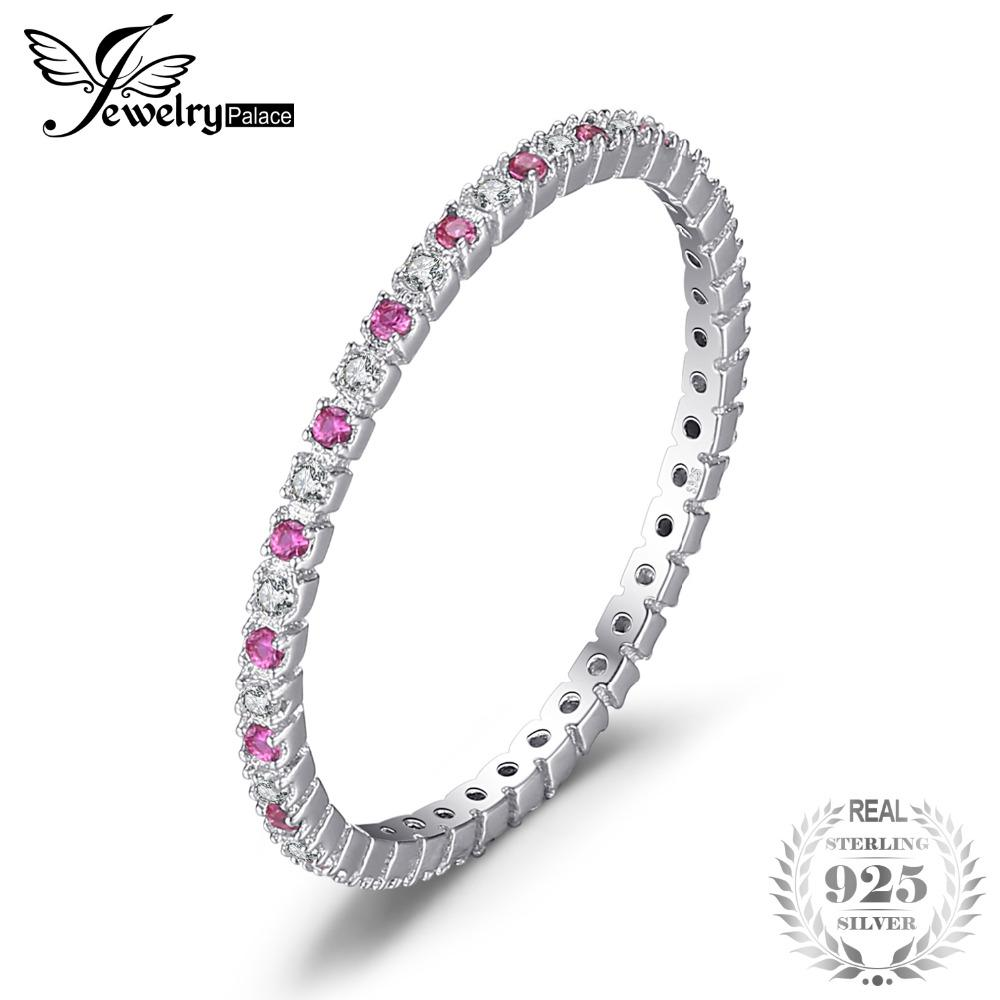 a75e8adfb6 JewelryPalace Classic 0.19ct Round Created Ruby Wedding Band Rings ...