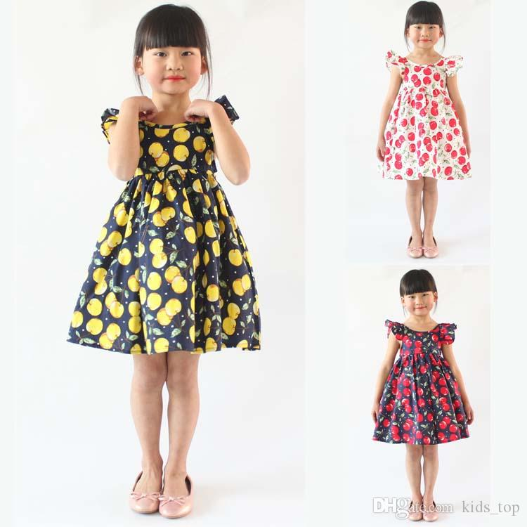 cd743b8ff8b 2019 Baby Girls Dresses 12 Months 7 Years Old Girls Summer Dresses Flower  Girl Dresses Tutu Dress Kids Clothing LA660 2 From Kids top