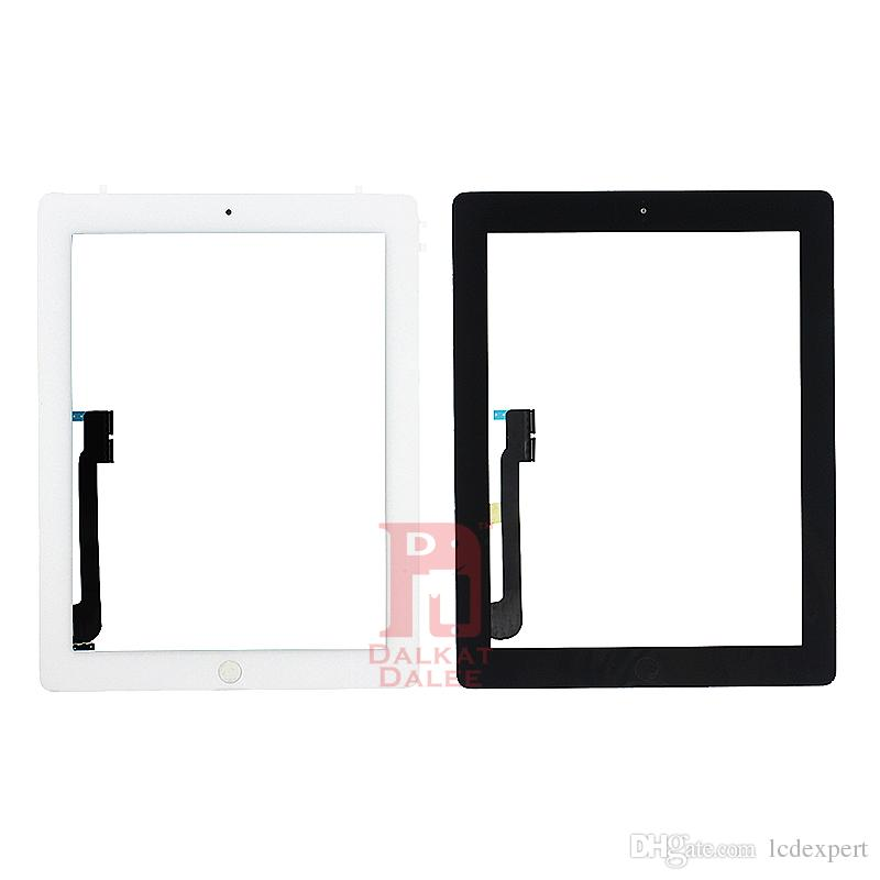 For iPad 2 3 4 Screen Digitizer Glass Touch Panel Replacement Repair Parts Assembly With Home Button Adhesive Sticker for ipad2 3 4