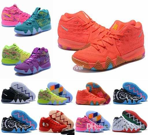 2018 Kyrie Basketball Shoes For Women Kids Irving Iv 4 Lucky Charms
