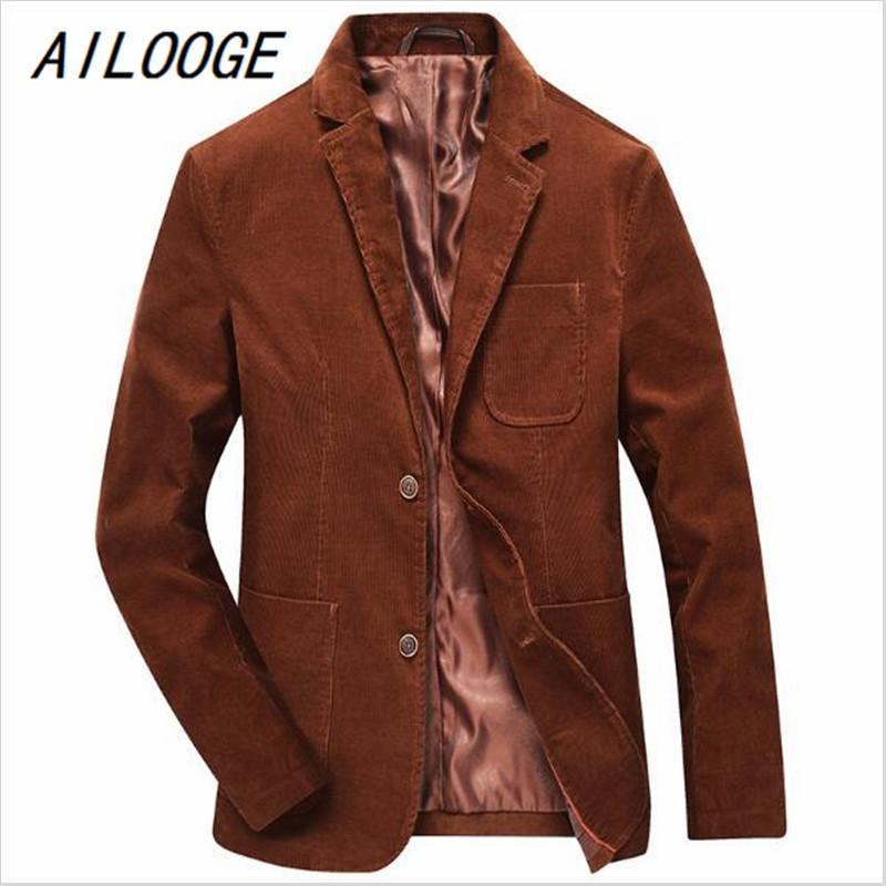 797b14a02e9 2019 AILOOGE New Autumn Winter Men Corduroy Blazer Slim Fit Suit Jacket  Coat Casual Blazer Brand Clothing Fashion Business From Movearound