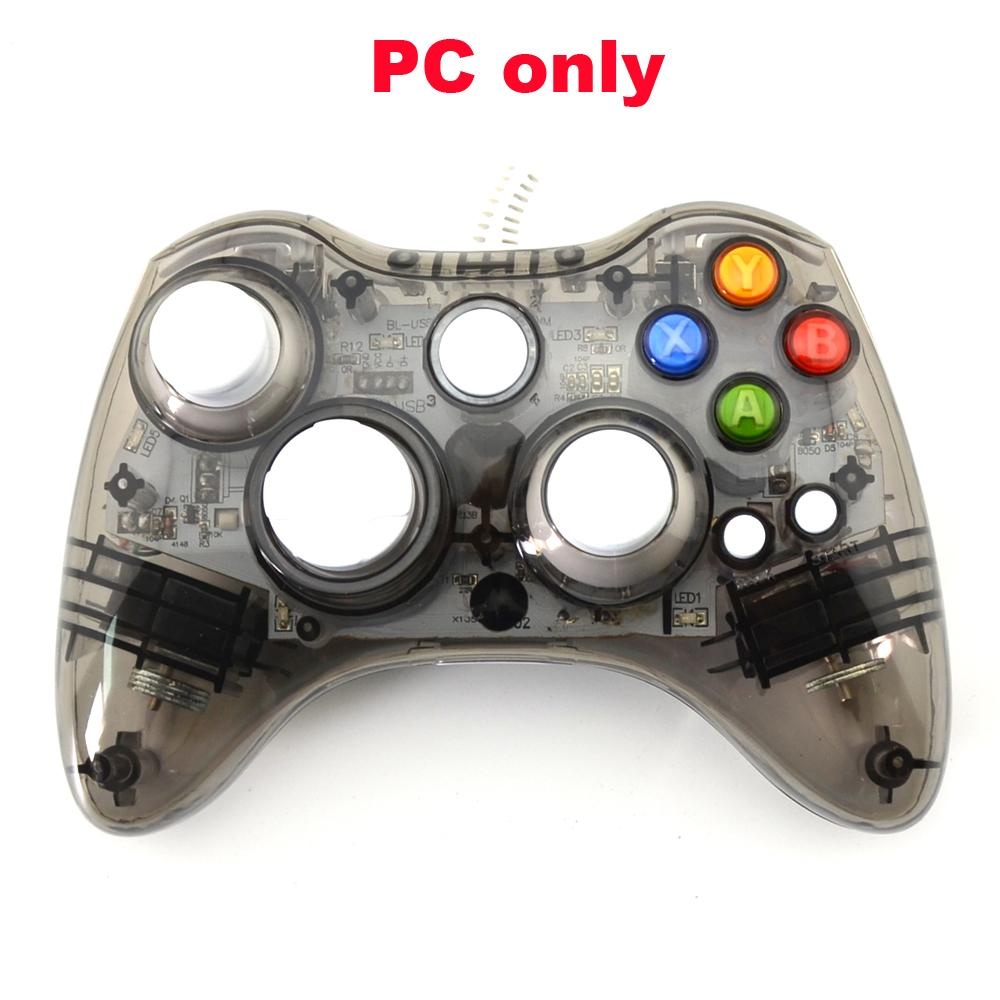 a PC USB Wired Game Controller LED Light Vibration Joystick Not ...