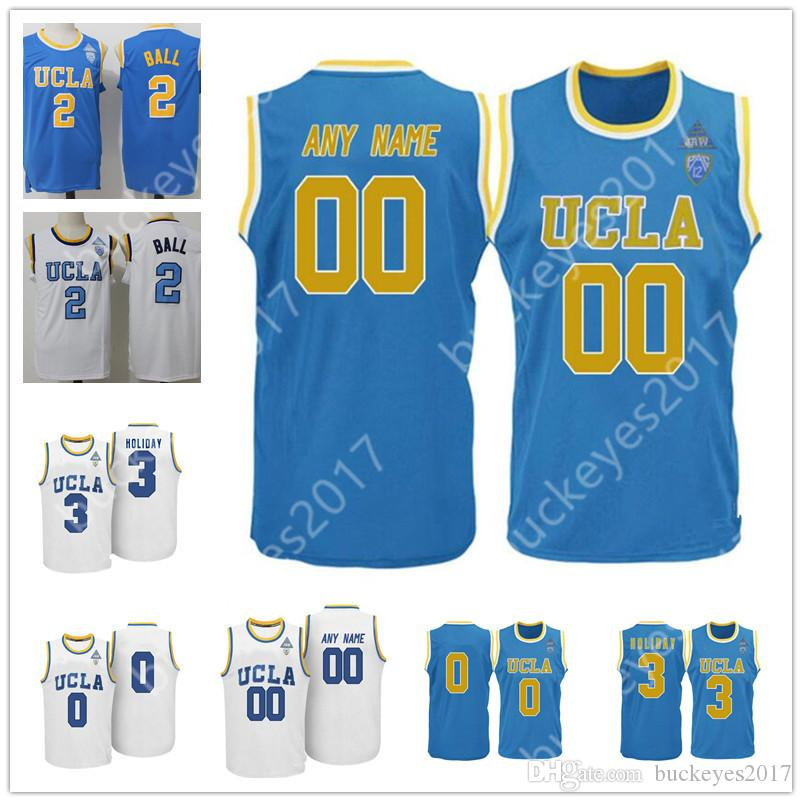 e568cd7a9 Custom UCLA Bruins Blue White Personalized Stitched Any Name Any ...