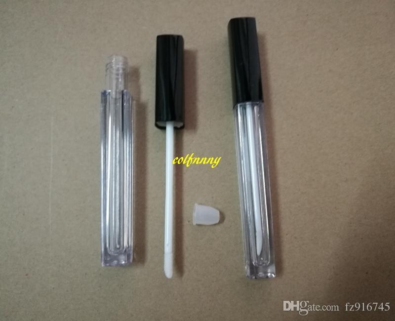 / brillo de labios tubo vacío contenedor de aceite recipiente maquillaje de labios cuadrados tubos de plástico 5ML brillo de labios con precio al por mayor