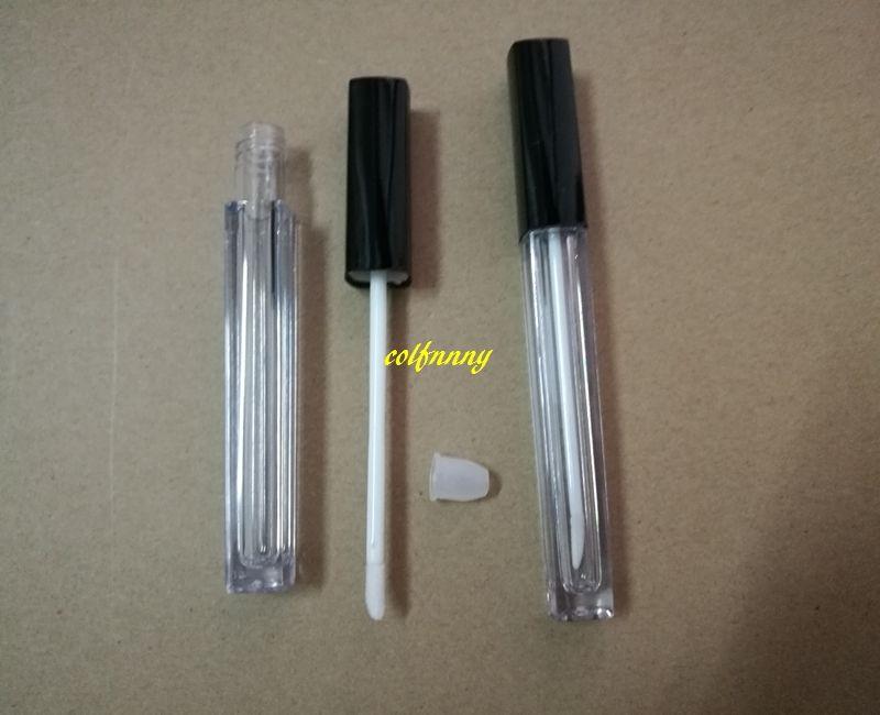 Tubo di lucentezza del labbro 5ML contenitore vuoto del labbro di trucco del contenitore di lucentezza del contenitore di rossetto di / Tubi di plastica quadrati con il prezzo all'ingrosso