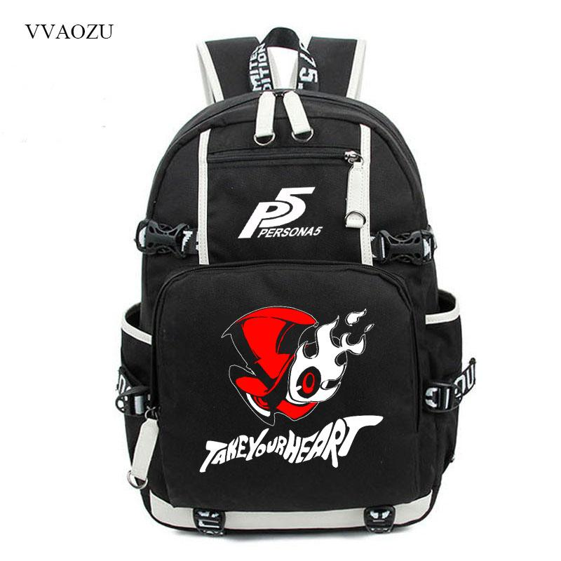 7f1c3e844e7 Persona 5 Vintage Canvas Backpack Large Capacity Travel School Bag Women  Men Collegbags Knapsack Backpacfor Students