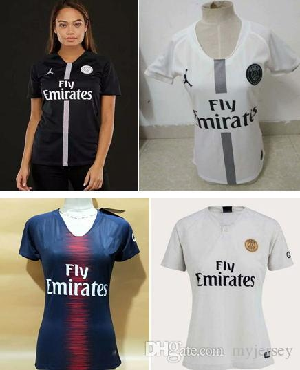 2019 Top Quality PSG MBAPPE Women Soccer Jerseys 2018 2019 Paris CAVANI  FEMALE Jersey 18 19 Camisa Blue Yellow Black Girls Football Soccer Shirt  From ... 7e6c6e408