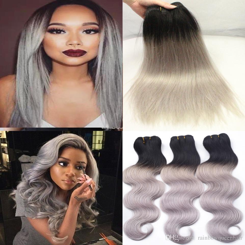 Brasilianische Reine Haar Ombre Malaysische Körperwelle Menschliche Haarwebart Bundles, 3 stücke Rose Gold Ombre 1B Rosa Ombre Menschenhaarverlängerungen