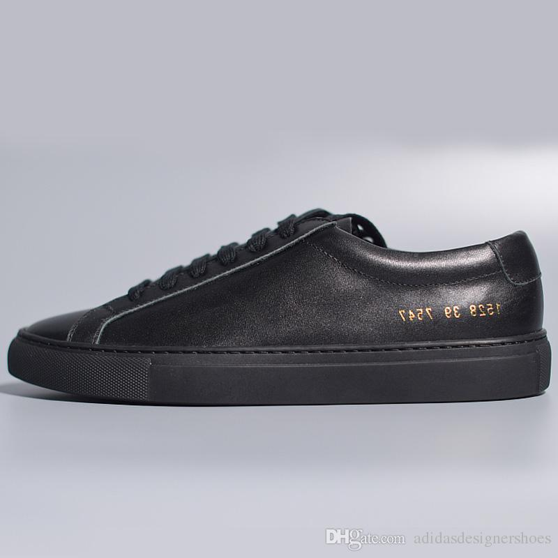 Like Common Projects Luxury Brand Designer Shoes Women S Shoes Flat  Trainers Sneakers Genuine Leather Triple Black Shoes Flat Shoes Yellow Shoes  From ... 5a5d0971a
