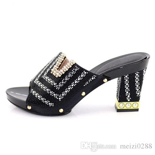 Beautiful sapphire blue shoes, unwrapped decoration, shiny artificial diamonds, high quality women's shoes in Africa.227-1