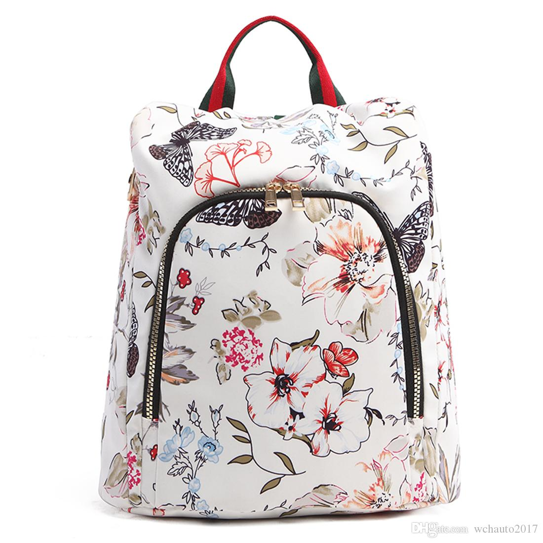 a789d2998f Floral Print Travel Backpack Bag for Student Bag-Lightweight Cute ...