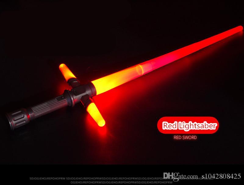 Elikliv Juguetes Sable L/áser Luz Espada Retractable Colorido LED Espada Sable Multi Color Con Efectos de Sonido Juguete Luz Sables De Para Ni/ño de Ni/ña Infantil