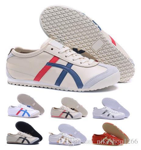 c2789b705d7 Acheter Nouveau Tiger Mexique 66 Corsaire Causal Chaussures Hommes Femmes  Jaune Basse Plat Bateau Skate Classique Unisexe Mode Zapatillas Femme  Chaussures ...