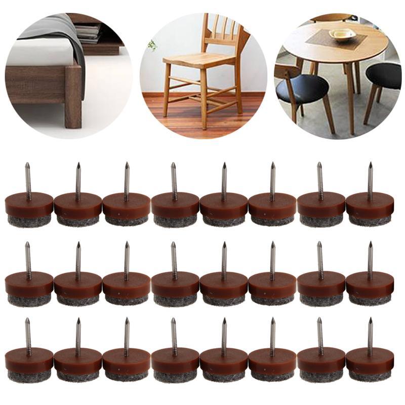 2019 20mm Round No Noise Furniture Table Chair Feet Legs Glides Skid