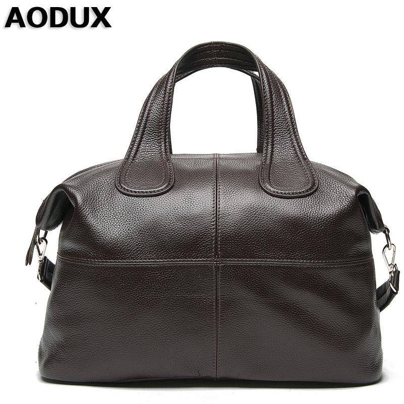 8535e0fe97c4 AODUXLuxury Fashion Famous Brand Designer Genuine Leather Women Handbag Bag  Ladies Satchel Messenger Tote Shoulder Bags Purse Lu Cute Purses Rosetti ...