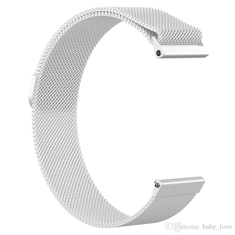 Bracelet en acier inoxydable à mailles milanaises à boucle magnétique pour Fitbit Versa Bracelet de montre intelligente Bracelet Bracelet