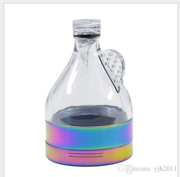 El nuevo diámetro de 63MM Rainbow Three Ice Blue Zinc Alloy Funnel Grinder