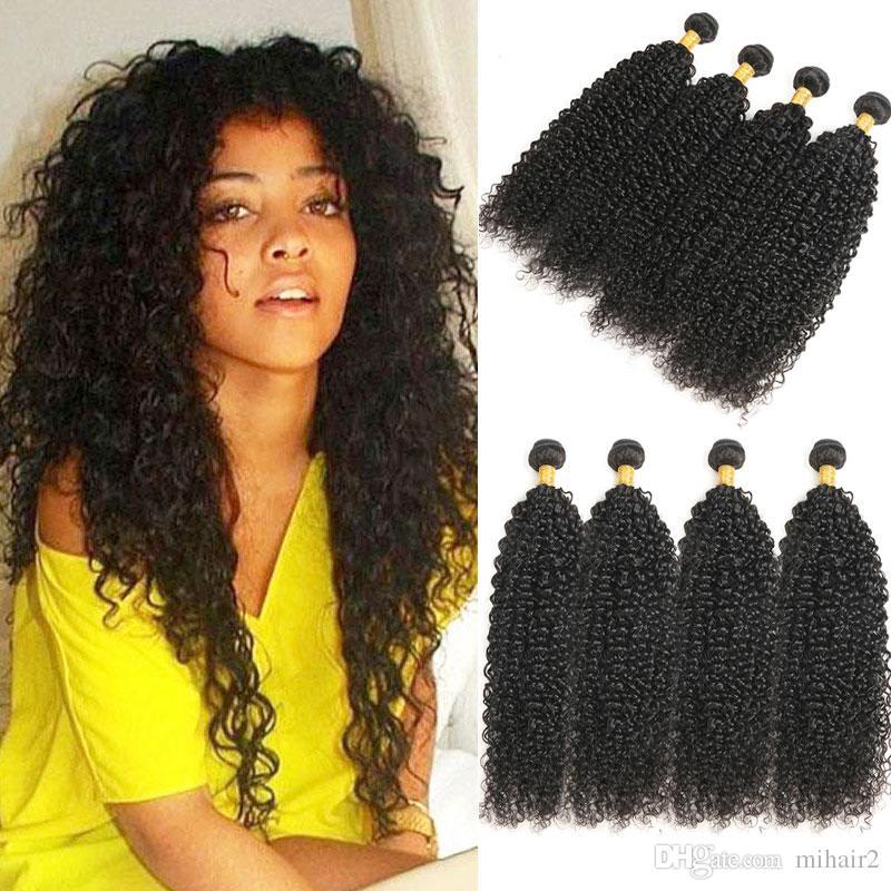 Human Hair Weaves Mongolian Afro Kinky Curly Weave Human Hair Extensions 4b 4c Virgin Hair 1 Or 3 Bundles Natural Black 10-24inch Ever Beauty Choice Materials Hair Weaves