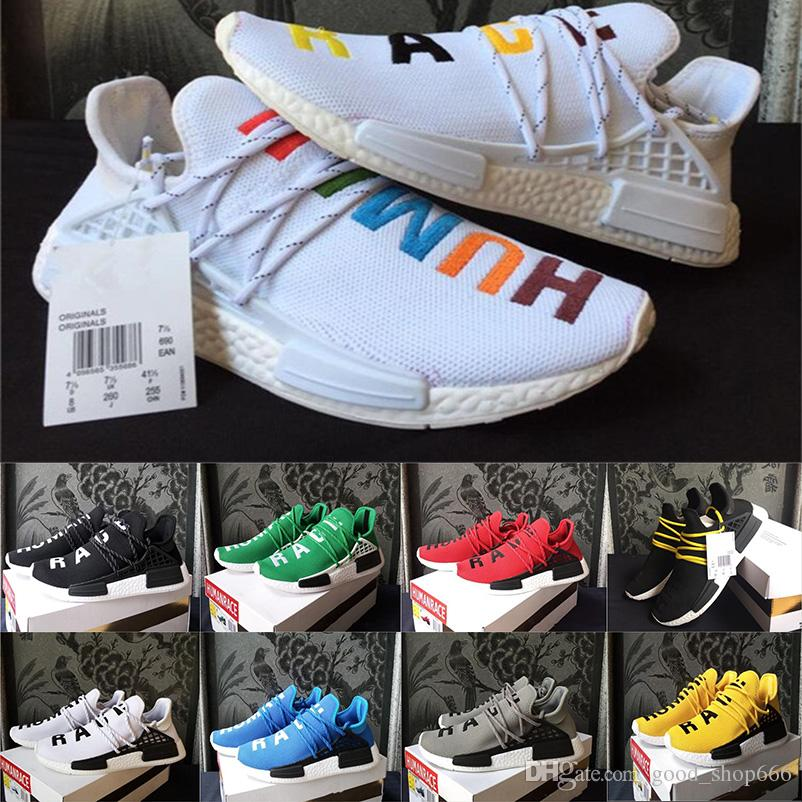 2dbbae2b1c9a2 2018 Hot Human Race Pharrell Williams X 2016 Men S   Women S NMD Runner  Trainers Sports Discount Cheap Fashion Design Sneakers Size 36 47 Running  Shoes Men ...