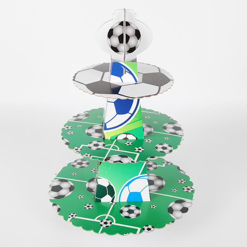 Cake Stand Football Birthday party cake Decoration Cartoon Football Cake Stand Dessert Football Cupcake Holder Party Supplies