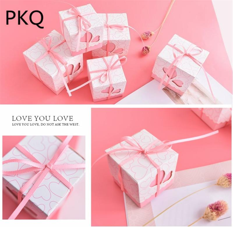 525252cm natural pink paper box craft gift box wedding candy carton cajas packaging for soap jewelry paper caixa christmas wrapping paper christmas