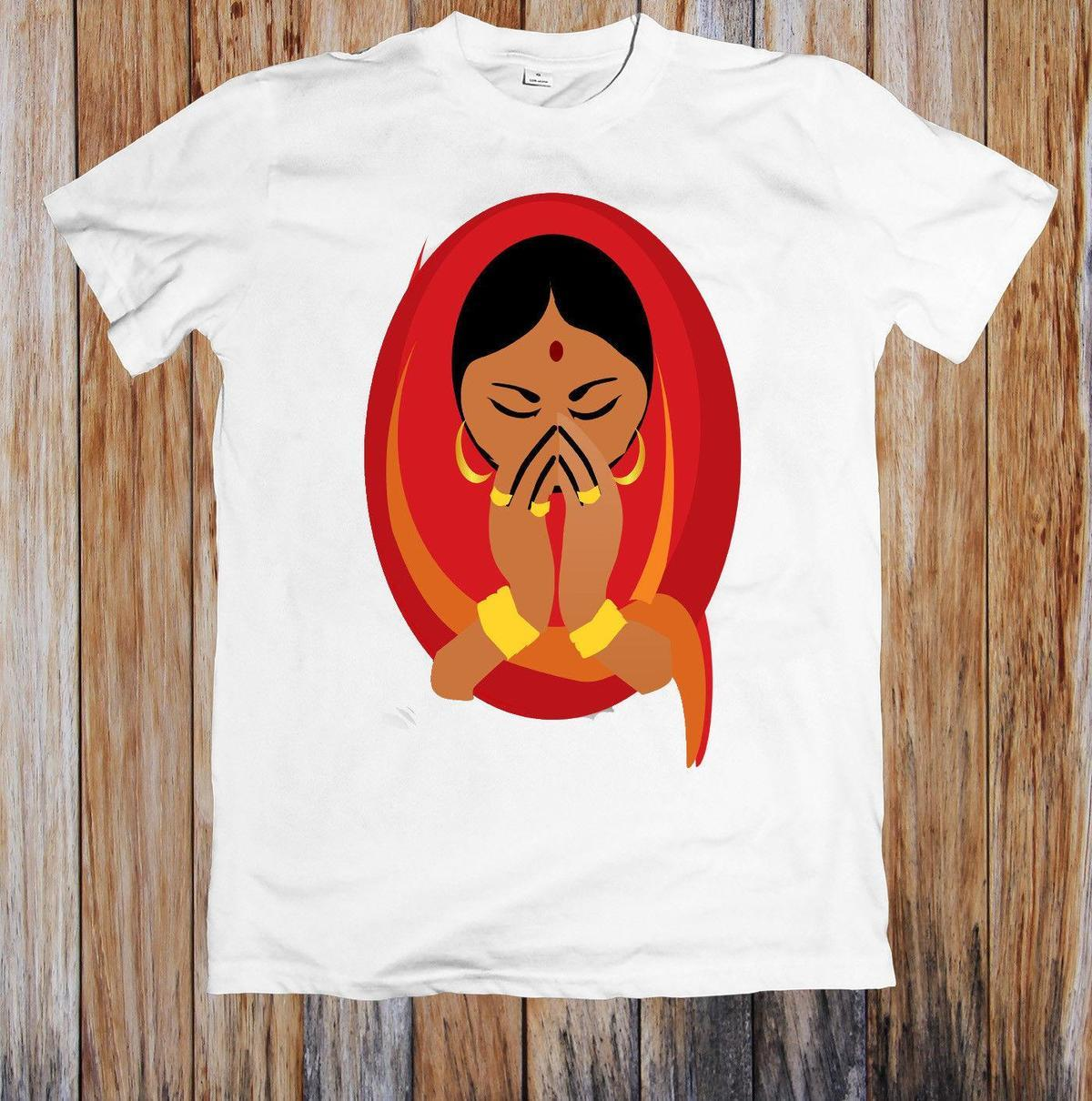 20e3b358e INDIAN CULTURE WOMAN UNISEX T SHIRT Funny T Shirt Designs Make A Tee Shirt  From Amesion30, $12.08| DHgate.Com