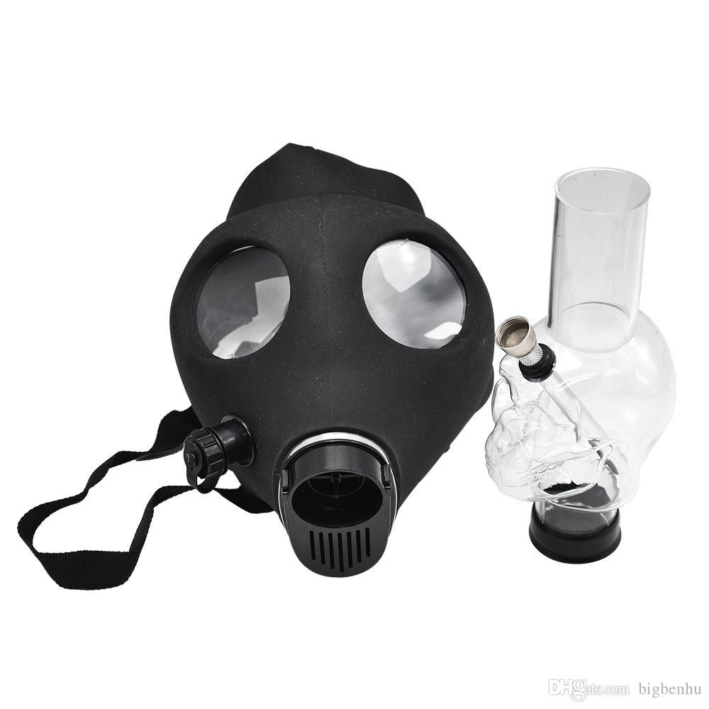 De silicona Máscara de tuberías Bong acrílico creativa pipa antigás de bongs Tubos de acrílico Envío del descenso