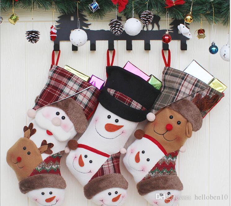 Personalised Luxury Embroidered Xmas Stocking Sack Santa Deluxe Christmas