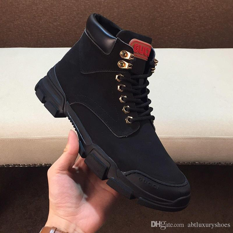 Luxus Schnee Martin Stiefel für Männer im Freien Schuhe plus Größe High Cut Lace Up Fahsion Stiefeletten Sicherheit Footwears Turnschuhe Leder
