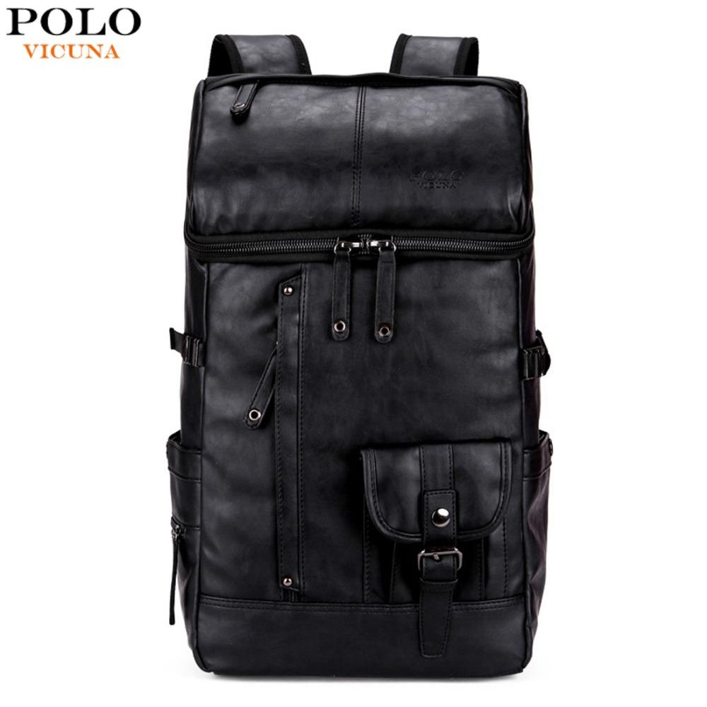 5f8f7ea56d VICUNA POLO High Capacity Men Backpack For Traveling Large Size Mens  Leather Travel Backpacks Casual Big Man Laptop Bag Mochilas Camping Backpack  Backpacks ...