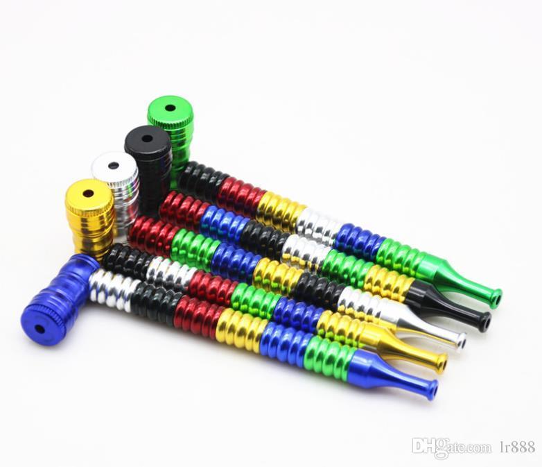 Tuyau métallique de fil de mélange de fil de six couleurs avec des garnitures de tuyau d'alliage d'aluminium de 152MM